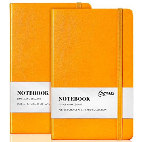 Bullet Dotted Journal, 2-Pack Hardcover A5 Notebook with Inner Pocket, 5.3