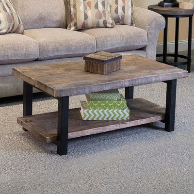 Loon Peak Somers 42 Wood Metal Coffee Table