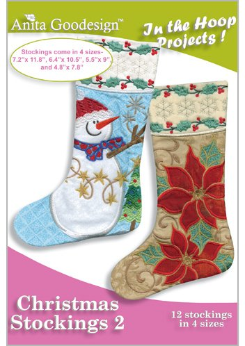 Stocking Embroidery Design (Anita Goodesign ~ Christmas Stockings 2 ~ Embroidery Designs)