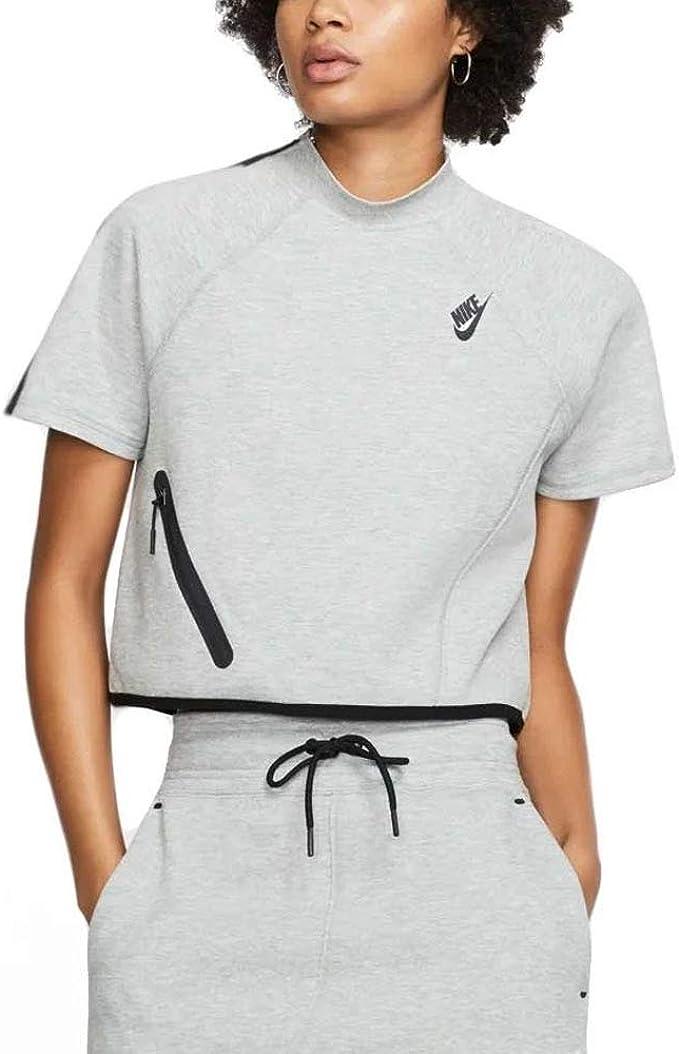 Nike Womens Nsw Tech Fleece Top Ss Reimag Cd4207 063 At Amazon Women S Clothing Store