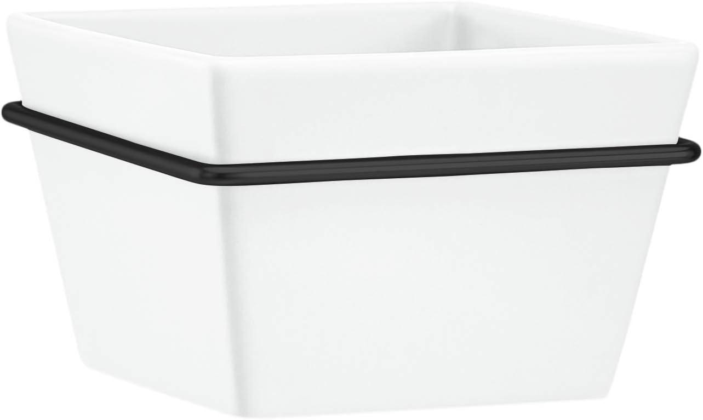 AmazonBasics Wall Planter, Square - White/Black