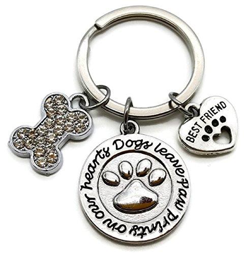 Dog Keychain, Pets Keychain, Pet Dog Memorial Keychain, Dog Charm Keychain, Dog Bone Keychain, Best Friend, Dog Paw Print Keychain, Gift for Dog Lover, Dog Key Ring, Dog Memorial Key Ring