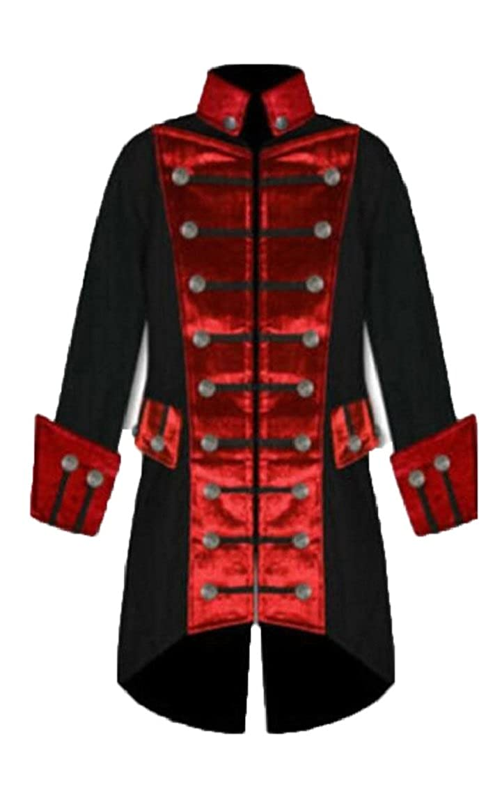 Jaycargogo Men Casual Victorian Steampunk Gothic Double-Breasted Frock Coats