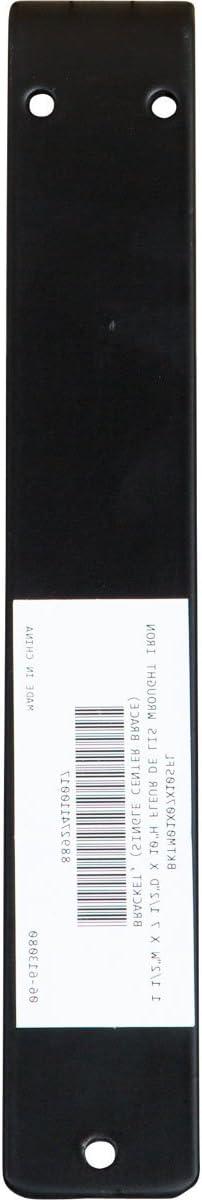 1 1//2 W x 7 1//2 D x 4 Piece Single Center Brace Powder Coated Black 4-Pack Ekena Millwork BKTM01X07X10SFL-CASE-4 1 W x 7 1//2 D x 10 H Fleur De Lis Wrought Iron Bracket,