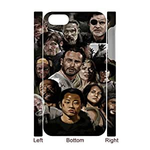 Iphone 4,4S Walking Dead 3D Art Print Design Phone Back Case Customized Hard Shell Protection DF098474