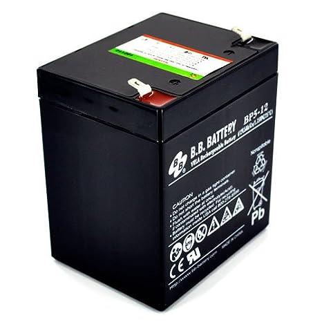 Amazon.com: B.B. BP5 – 12 12 V/5 Ah AGM Terminal de batería ...