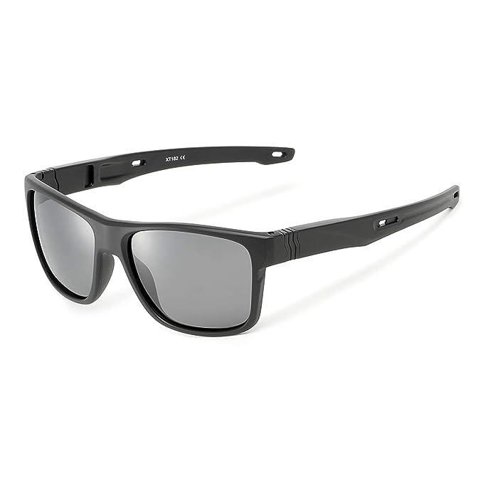0b1a2271aa Amazon.com  Square Sunglasses Polarized for Men and Women (Black ...