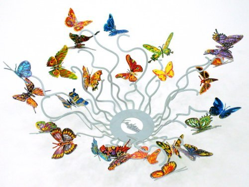 Butterflies Forever Metal Art Fruit Bowl By David Gerstein