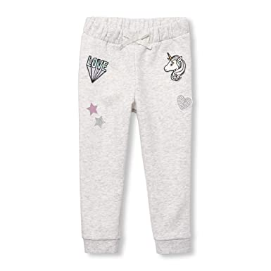 55963a83ec975 Amazon.com: The Children's Place Toddler Girls' Fleece Joggers: Clothing
