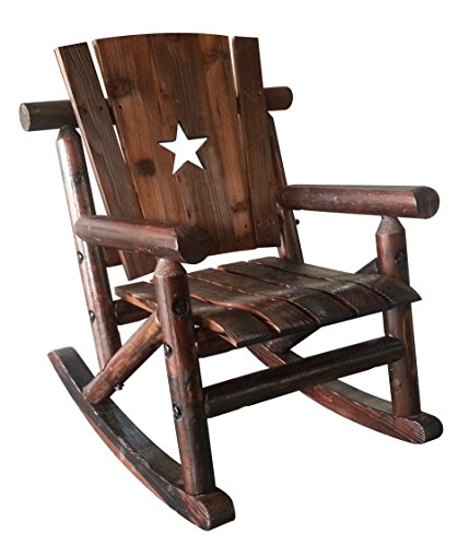 Leigh Country TX 93772 Char Log Jr Rocker with Star, Junior, Brown