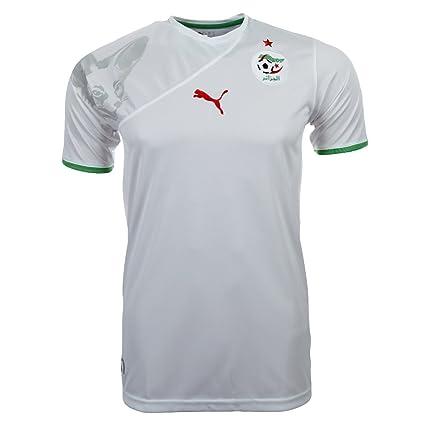 Argelia para hombre PUMA fútbol Jersey camiseta de fútbol blanco ...