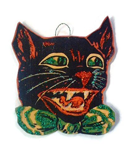 Halloween Ornament Decoration Scary Black Cat ()