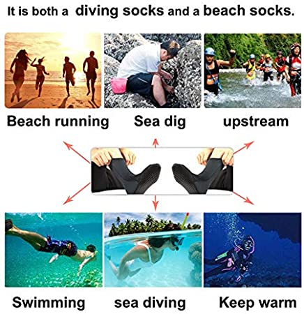 Sand-Proof and Keep Warm Durable for Men Women/¡/ LESOVI Neoprene Socks 3mm Beach Socks for Snorkeling Fishing Water Sports Beach Volleyball Soccer Premium Glued and Blind Stitched TECH