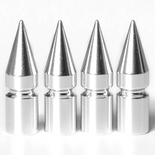 Circuit Performance VC6 Series Silver Aluminum Spiked Valve Stem Caps (Set of ()
