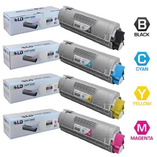 LD © Compatible Okidata C6150 / MC560 Set of 4 High Yield Laser Toner Cartridges: 1 Black 43865720, 1 Cyan 43865719, 1 Magenta 43865718, 1 Yellow 43865717
