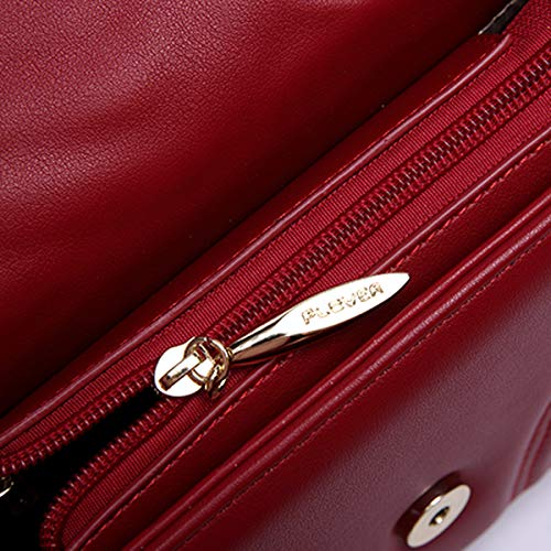 Wave Cg Retro Pu Crossbody Velvet Girls Mini leather Red Ladies Chain Lock Shoulder cgletter Women Linger Bag 2018 Nappy Baby P4fq7