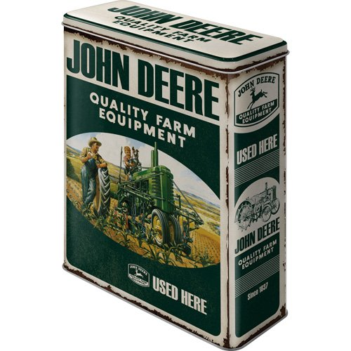 Nostalgic Art John Deere Storage Tin - Quality Farm Equip...
