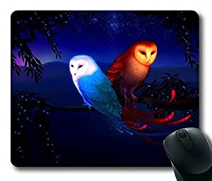 Fantasy Owl Masterpiece Limited Design Oblong Mouse Pad by Cases & Mousepads by runtopwell