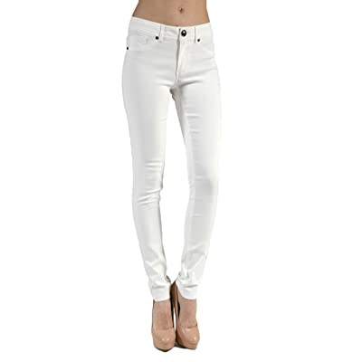 2LUV Women's Skinny Stretch Bengaline Ponte Pants Off White S at Women's Clothing store