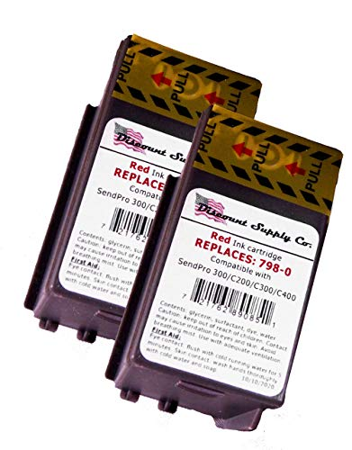 2-Pack of SL-798-0 Compatible Ink Cartridges for Sendpro C200, C300 and C400 Postage Meters Supply Co.