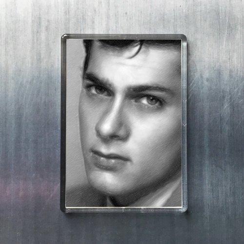 Seasons TONY CURTIS - Original Art Fridge Magnet #js001 (Viking Single Refrigerator)