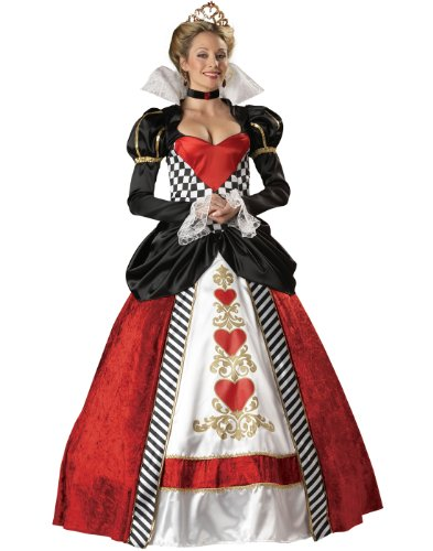 InCharacter Costumes, LLC Women's Queen Of Hearts Costume, Red/White/Black, -