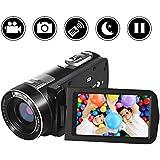 "SEREE camcorder Video Camera Full HD 1080p Digital Camera 24.0MP 18x Digital Zoom 3.0"" LCD 270° Rotation Screen with Remote Control"