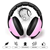 BUENAVO Baby Earmuff Noise Reduction Comfortable Headband Noise Cancelling Headphone for Baby and Toddlers Outdoor Safety Hearing Protection (pink)