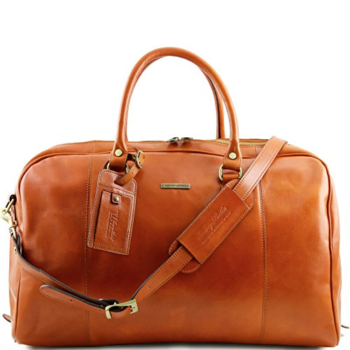 Tuscany Leather TL Voyager Travel leather duffle bag Honey by Tuscany Leather