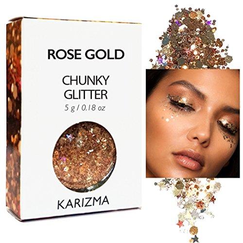 rose gold chunky glitter karizma