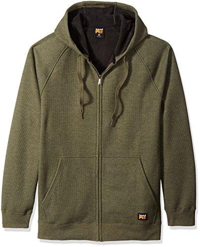 Side Downdraft - Timberland PRO Men's Downdraft Thermal-Bonded Full-Zip Sweatshirt, Grape Leaf Heather, Large
