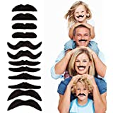 12pcs/set Party Halloween Christmas Fake Mustache Funny Fake Beard Whisker for Your Birthday - Novelty and Toy, for…