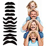 12pcs/set Party Halloween Christmas Fake Mustache Funny Fake Beard Whisker for Your Birthday - Novelty and Toy, for Halloween