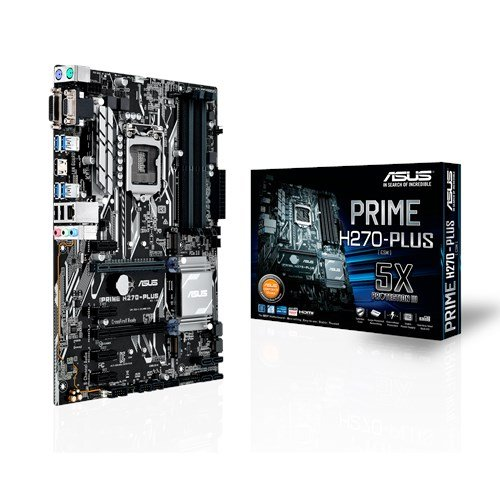 4 opinioni per ASUS PRIME H270-PLUS Scheda Madre, Socket 1151 ATX , Dual M.2, HDMI, USB 3.0
