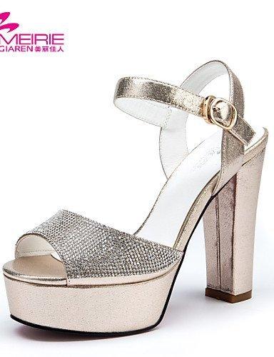 ShangYi MeiRie'S Women's Shoes Patent Leather Chunky Heel Heels/Peep Toe/Open Toe Sandals