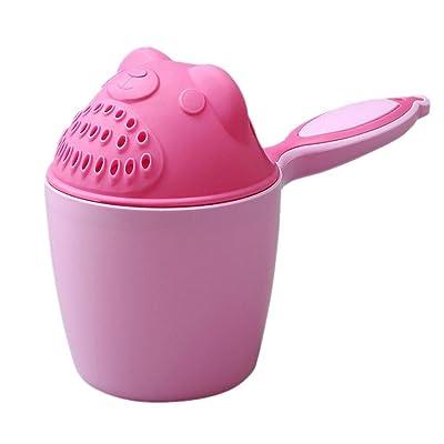 Rameng Multifunctional Plastique Salle de Bain Brosse à Dents Coupe Jouet de Bain Arrosoir Tasse de Bain Jouets d'eau Douche pour Enfants Bébés (Rose)