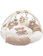 Fehn 074611 3D-aktivitetsbo safari, särskilt mjuk leksaksbåge med 5 avtagbara leksaker för bebisar lek och kul från födseln. Mått: Ø 85 cm