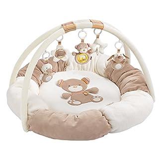 Fehn 160963 3-D-Activity-Nest Rainbow / Besonders weicher Spielbogen mit 5 abnehmbaren Spielzeugen für Babys Spiel & Spaß von Geburt an / Maße: Ø85cm 1