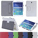 Galaxy Tab S2 8.0 inch Case,Galaxy T710 Case,SLMY(TM)Premium Folio Cover Case For Samsung Galaxy Tab S2 8.0 inch T710 With Built-in Stand and Card Slot Function White