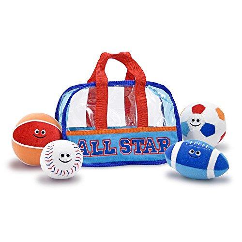 Amazing Melissa and Doug Plush Sports Bag Fill and Spill Set