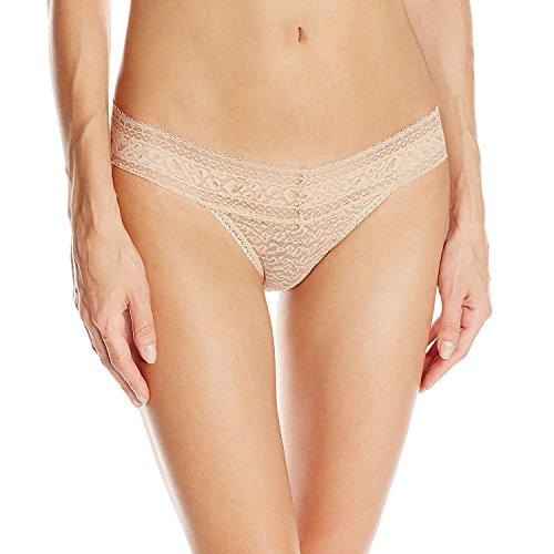 Calvin Lace Bikini (Calvin Klein Women's Stretch Lace Bikini Panty, Bare, Large)
