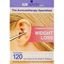 Weight Loss Ear Seed Kit- 120 Vaccaria Ear Seeds, Stainless Steel Tweezer by...