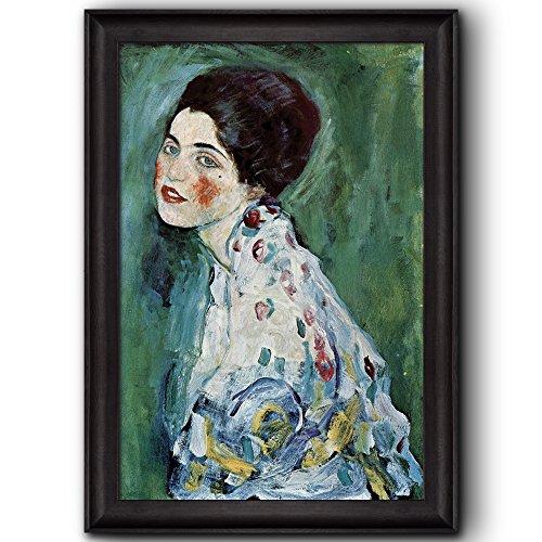 Portrait of a Lady by Gustav Klimt Framed Art