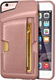 Silk iPhone 6 Plus/6s Plus Wallet Case - Q CARD CASE [Slim Protective Kickstand CM4 Credit Card ID Phone Cover] - Wallet Slayer Vol.2 - Rose Gold
