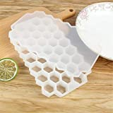 2019HoHo Ice Cube Trays Honeycomb Shape Ice Maker,Easy Release, Popsicle Molds