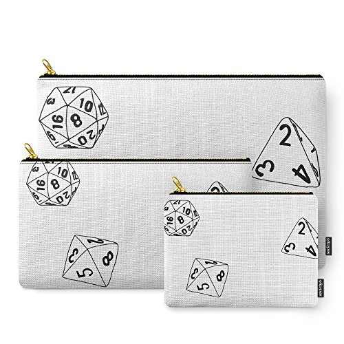 Society6 Dungeons And Dragons Dice Carry-All Pouch Set of 3
