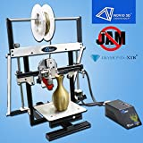 NOVIO 3D 106 Foldable 3D Printer / First In The World Patent Anti Jam Technology / Changeable Nozzle and Upgradable To Two Nozzles / High Definition Printing / With 3D CNC Transformer
