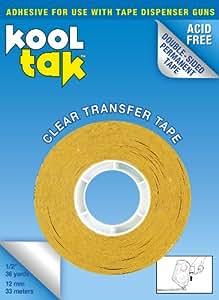 KOOL TAK Clear Transfer Tape, 1/2-Inch by 36-Yard, Single roll