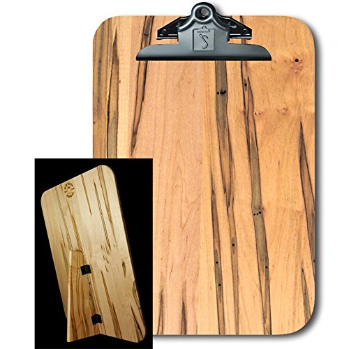 Display Office Clipboard (Large Standing Clipboard Display, Ambrosia Maple, Butterfly Clip)