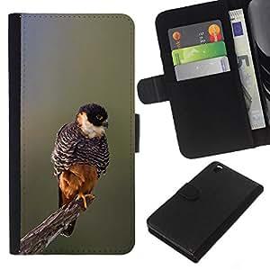 EJOY---La carpeta del tirón la caja de cuero de alta calidad de la PU Caso protector / HTC DESIRE 816 / --bebé naturaleza de primavera pájaro ramificación borrosa